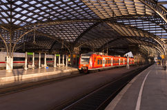 RAIL STATION IN COLOGNE Royalty Free Stock Image