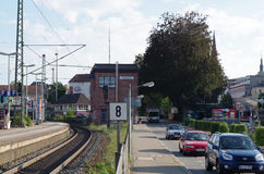 Rail station of Offenburg Stock Photos