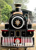 Rail Steam Engine. Old Rail Engine at Museum in New Delhi, India Royalty Free Stock Photo