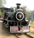 Rail Steam Engine. Old Rail Engine at Museum in New Delhi, India Stock Photo