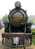 Rail Steam Engine. Old Rail Engine at Museum in New Delhi, India Stock Image