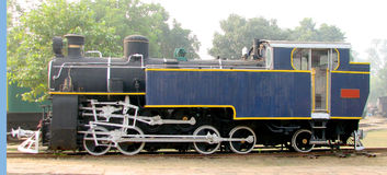 Rail Steam Engine. Old Rail Engine at Museum in New Delhi, India Royalty Free Stock Images