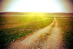 Rail sur l'herbe Images libres de droits