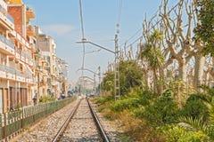 Rail tack in Calella Spain Stock Photography