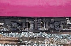 Rail thaïlandais de diesel de train de roue Photographie stock