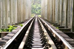 Rail in thailand Royalty Free Stock Image