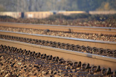Rail Ties and Track Royalty Free Stock Photo