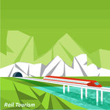 Rail tourism Royalty Free Stock Image