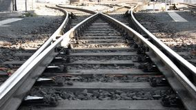 Rail Track. Switch of industrial Rail Way Track stock images