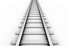 Rail track. 3D rendered illustration of a railroad track Stock Photography
