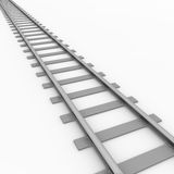 Rail track. 3D rendered illustration of a railroad track Royalty Free Stock Photography