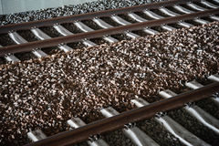 Rail track. Close look at train rail track Royalty Free Stock Photo