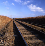 Rail track. Going into infinity royalty free stock images