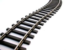 Rail track. Isolated on white royalty free stock image