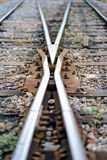 Rail track cross roads Stock Images