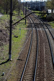 Rail track. Industrial. Nature background. Rail track stock photography