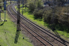 Rail track. Industrial. Nature background. Rail track royalty free stock photography