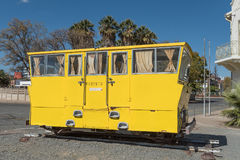 Rail track inspection car in Windhoek royalty free stock photo