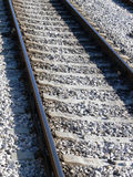 Rail Track Lines. Railway track Royalty Free Stock Photos