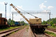 A Rail Track Mounted Crane. Royalty Free Stock Photo