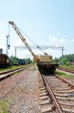 A Rail Track Mounted Crane. Royalty Free Stock Photos