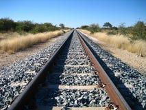 Rail track. Through Namibian savanna royalty free stock photos