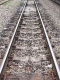Rail track in perspective Royalty Free Stock Photos