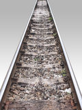 Rail track in perspective Royalty Free Stock Images