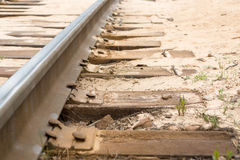 Rail Track in Sand Stock Photos