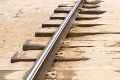 Rail Track in Sand Stock Images