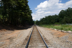 Rail track in South Carolina USA Royalty Free Stock Photos