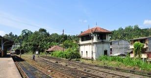 Rail track and station in Sri Lanka Royalty Free Stock Photos