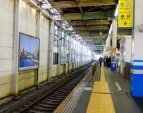 Rail track at the train station in Takayama, Japan Royalty Free Stock Photo