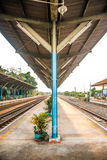 Rail track way transport at station in thailand. Rail track way transport in thailand Stock Photography