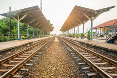 Rail track way transport at station in thailand. Rail track way transport in thailand Stock Images