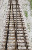 Rail tracks. Junction of two rail tracks Stock Photography