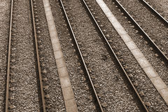 Rail Tracks Royalty Free Stock Photography