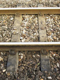 Rail tracks close-up Royalty Free Stock Images
