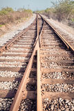 Rail tracks junction royalty free stock photography