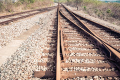 Rail tracks Royalty Free Stock Photo