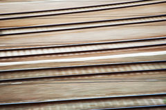 Rail tracks in motion blur Stock Image