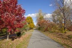 Rail Trail. The Ashuwillticook Rail Trail in the Berkshires, of Western Massachusetts stock image