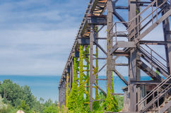 Rail trail, metal Royalty Free Stock Photos