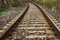 Rail train. Rail-train infrastructure in countryside, sicily royalty free stock photo