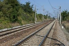 Free Rail-train Infrastructure Near Village Vakarel, Situated In The Sredna Gora Mountain Stock Image - 120198761