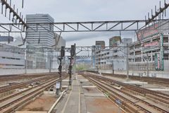 Rail train stop at Sapporo station in Hokkaido, Japan. Stock Photo