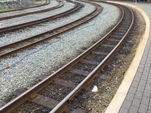 Rail or train tracks. Royalty Free Stock Photography