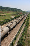 Rail transport of oil Stock Image