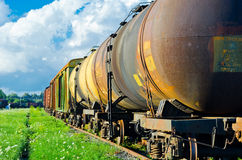Rail transport. Russian rail transport on rail center royalty free stock photography