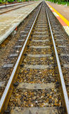 The rail for transport train. Royalty Free Stock Images